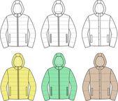 Men's jackets — Stock Vector