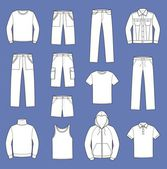 Men's casual clothes — Vetorial Stock