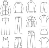 Women's casual clothes — 图库矢量图片