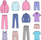 Women's casual clothes — Stok Vektör