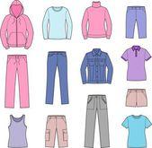 Women's casual clothes — Stock Vector