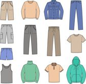 Men's casual clothes — Vector de stock