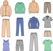 Women's casual clothes — Wektor stockowy
