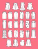Skirts — Stock Vector