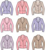 Women's jacket — Vector de stock