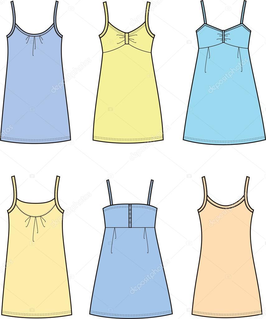 连衣裙 — 图库矢量图像08