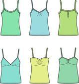 Women's tops — Vector de stock