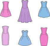 Dress — Vector de stock