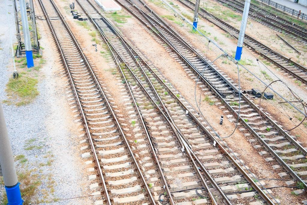 Rail tracks. View from height. — Stock Photo #12721002