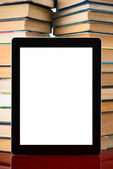 Books and tablet pc — Stock Photo