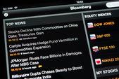Top news on an Ipad New screen — Stock Photo