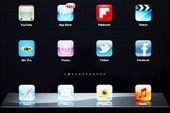 Ipad nya apps — Stockfoto