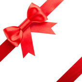 Red bow and ribbons — Stock Photo