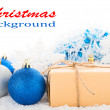 Christmas background. Gift box — Stock Photo