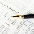 Weather in Newspaper with Pen — Stock Photo #16316723