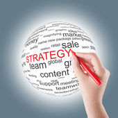 Concept of strategy — Stockfoto