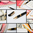 Stock Photo: Collage of business theme