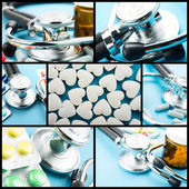 Medical theme collage — Stock Photo