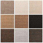 Set from backgrounds of textile texture — Stock Photo