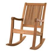 Ahşap sallanan sandalye — Stok fotoğraf