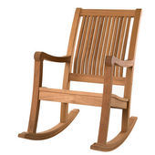 Wooden rocking chair — Stok fotoğraf