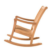 Wooden rocking chair — Stock Photo