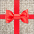 Stock Photo: Gift with red bow