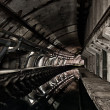 Underground bunker from cold war - Stock Photo