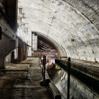 Underground bunker from cold war — Stock Photo