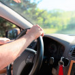 Man driving a car. Inside shoot — Stock Photo
