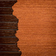 Template of cracked wood board — Stock Photo
