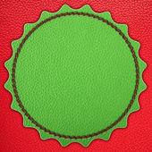 Green star leather stripe — Stock Photo