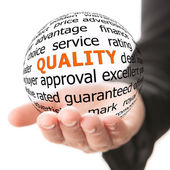 Concept of quality — Stock Photo