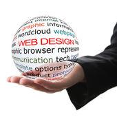 Concept of web design — Stock Photo