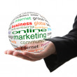 Concept of online marketing in business — Stock Photo