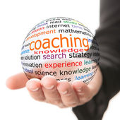 Concept of coaching in learning — Stock Photo