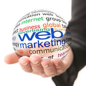 Concept of web marketing in business — Stock Photo