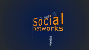 Concept of social network — Stock Video