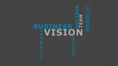 Vision in business concept — Stock Video