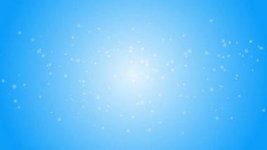 Płatki śniegu spada na niebieskim tle — Wideo stockowe
