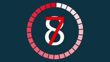 普遍的なリーダーのカウント ダウン時計 — ストックビデオ