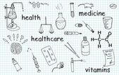 Medicine vector doodles — Vector de stock