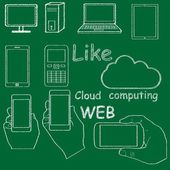 Technology doodle texture — Stock Vector