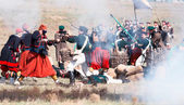 Historical reenactment of the Crimean War — Stock Photo