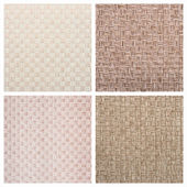 Set from four textile backgrounds — Stock Photo
