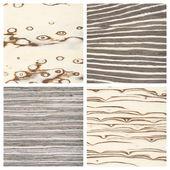 Set of four wooden texture backgrounds — Zdjęcie stockowe