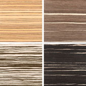 Set of four wooden texture backgrounds — Stock Photo