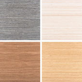 Set of four wooden texture backgrounds — Stock fotografie
