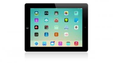 Google maps application on Apple iPad — Stock Video