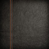 Stitched leather background — Stock Photo